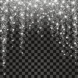 Festive explosion of confetti. Gold glitter background for the card, invitation. vector illustration