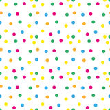 Festive confetti seamless pattern. Modern, geometric repeating texture. Memphis style endless background. Vector Stock Photography