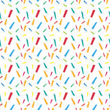 Festive confetti seamless pattern. Modern, geometric repeating texture. Memphis style endless background. Vector Royalty Free Stock Photo