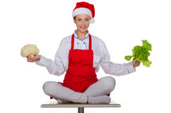 Festive cook with vegetables Stock Photos