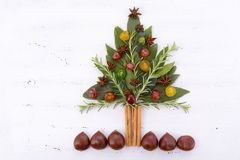 Festive cooking concept Christmas Tree Stock Images