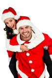 Festive couple smiling at camera Royalty Free Stock Photos