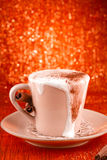 Festive Cup Of Hot Drink With Cinnamon Royalty Free Stock Photo