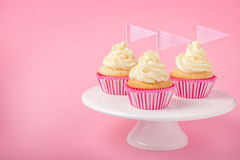 Festive cupcakes with frosting Stock Image