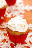 Festive cupcakes, snowflake, glitter Stock Image
