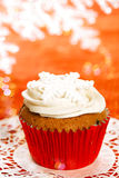 Festive cupcakes, snowflake, glitter Stock Photos