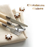 Festive cutlery set Royalty Free Stock Photo