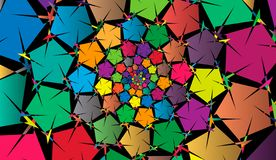 Festive dark abstract background. Multicolor rotating pattern. Festive dark abstract background. Multicolor rotating pattern royalty free illustration
