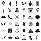 Festive day icons set, simle style. Festive day icons set. Simple style of 36 festive day vector icons for web isolated on white background Stock Images