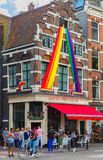 Festive decorated Amsterdam Stock Images