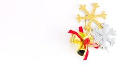 Festive decorated christmas pine tree. Isolated on white background Stock Images