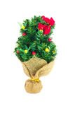 Festive decorated christmas pine tree Stock Photos