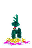Festive decorated christmas pine tree. Isolated on white background Stock Photography