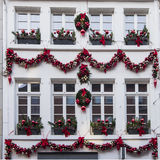 Festive decorated house at Christmas time Stock Photography