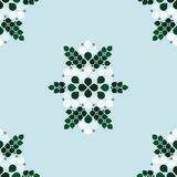 Festive decoration background. Festive decoration with simple flowers and leafs - vector background Royalty Free Stock Photo