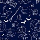 Festive decoration, pumpkins. Seamless pattern vector illustration Stock Photography