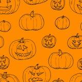 Festive decoration, pumpkins. Seamless pattern vector illustration Royalty Free Stock Photography
