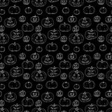 Festive decoration, pumpkins. Seamless pattern vector illustration Stock Photos