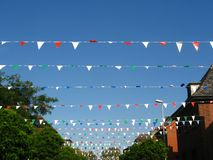 Festive decoration on a street. For a procession Stock Images