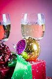 Festive decorations and drinks Royalty Free Stock Image