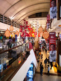 Festive decorations at a shopping mall in Delhi Stock Photos