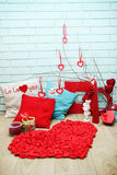 Festive decorations for Valentine's Day Stock Image