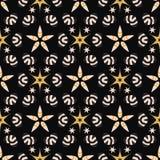 Festive Decorative Stars Ornamental Seamless Vector Pattern stock illustration