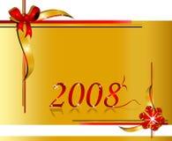 Festive design. Festive illustration for 2008, ideal for cards Stock Photo