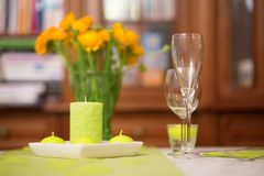 Festive dining table Stock Photos