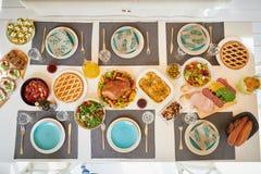 Festive Dinner Table stock image