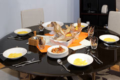 Festive dinning table Royalty Free Stock Photos