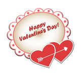 Festive doily. Background with hearts for Valentine's Day. Vector illustration Royalty Free Stock Photography