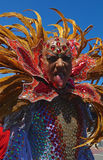 Festive Drag Queen Close-up Stock Images