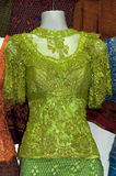 Festive dress. Embroidered with glitter for sale, Cambodia Stock Photography
