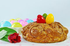 Festive Easter bread Stock Images