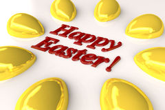 Festive Easter card. Springtime original Festive Easter card in modern style Stock Images
