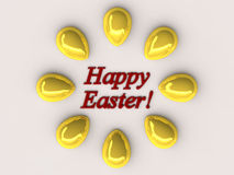 Festive Easter card. Springtime original Festive Easter card in modern style Stock Photo