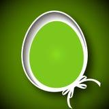 Festive Easter card. Vector art illustration paper Easter eggs Stock Image