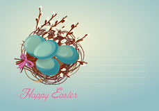Festive Easter card in vintage style. Vector illustration Royalty Free Stock Photography
