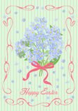 Festive Easter card in vintage style. Vector illustration Stock Images