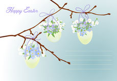 Festive Easter card in vintage style. Vector illustration Stock Photos