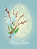 Festive Easter card in vintage style. Vector illustration Royalty Free Stock Image