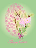 Festive Easter card in vintage style. Vector illustration Royalty Free Stock Images