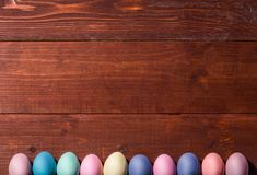 A festive Easter composition. view from above. concept of the spring and the feast of the Passover.  Stock Photo