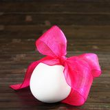 Festive Easter Egg on Dark Square Card Stock Photo