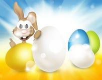 Festive easter eggs design. Graphic illustration Stock Photos
