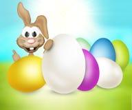 Festive easter eggs design Stock Images