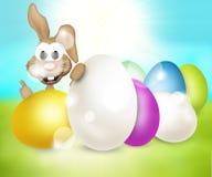 Festive easter eggs design. Modern background graphic illustration Stock Photo