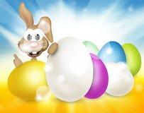 Festive easter eggs design. Modern background graphic illustration Stock Images