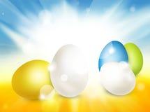 Festive easter eggs design. Modern background graphic illustration Stock Image